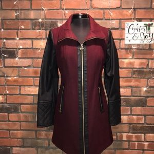 black and red leather Michael Kors jacket like new